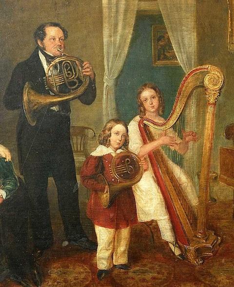 Eduard med søn richard og datter melanie 1835